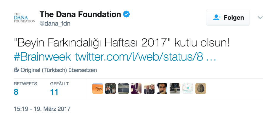 Dana Foundation twit